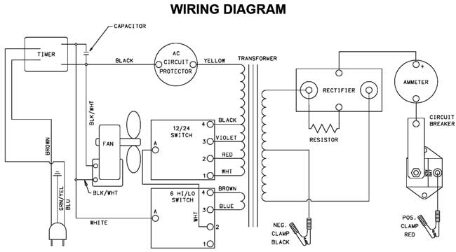Wiring Diagram For Century Battery Charger : Century charger diode wiring free engine image